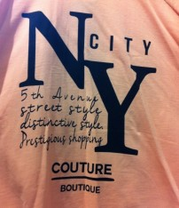 1NYC t-shirts in Primark