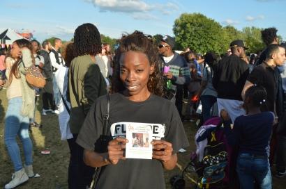Sabrina supporting #Art4ChangeHaiti