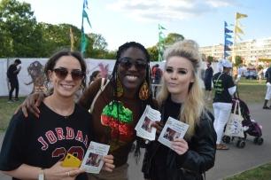 Thanks gals! Supporting #Art4ChangeHaiti