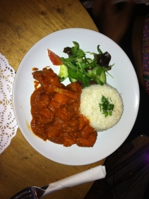 Mafe (Lamb peanut stew with vegetables and rice)