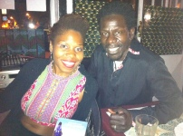 Guylene and Abdoulaye Samb