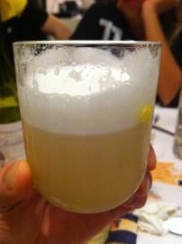 Whisky-pisco Neapolitan style