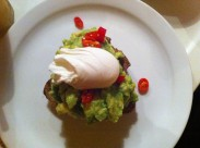 Avocado and eggs at Breakfast Club