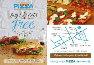 Enjoy this offer on the 1st Oct at Pixxa Farringdon!