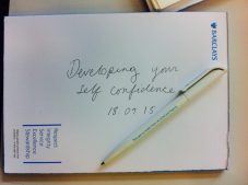 Taking note: Developing self confidence with Barclays bank