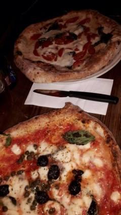 Neapolitan style pizza at Pizza Pilgrim