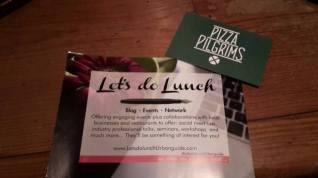 Let's do lunch... or dinner at Pizza Pilgrims!
