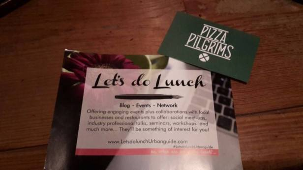 Let's do lunch... or dinner at Pizza Pilgrims!