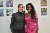 With Dean of School of Media Karin Askham