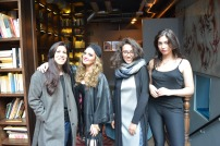 It's a wrap: creative ladies after a day of filming