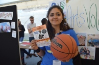 """At Freshers Fair promoting Amacoast """"Love & Basketball"""" screening event 16th Oct"""